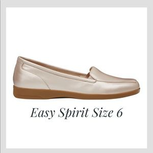 Easy Spirit Devitt Casual Rose Gold Flats sz 6